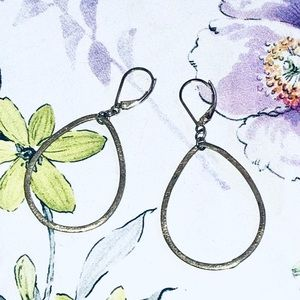 Sterling silver handmade tear drop earrings